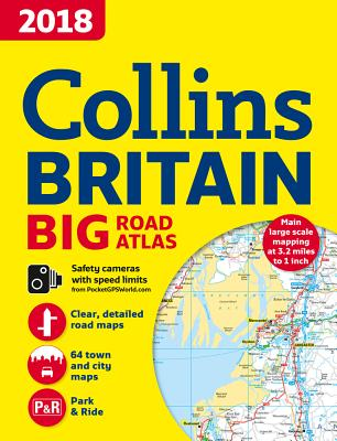 2018 Collins Big Road Atlas Britain - Collins Maps