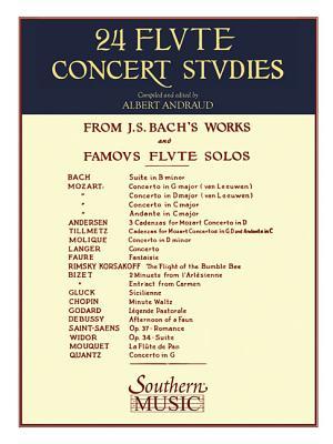 24 Flute Concert Studies: Unaccompanied Flute - Bach, Johann Sebastian (Composer)
