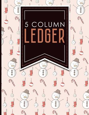 "5 Column Ledger: Account Book Journal, Accounting Notebook, Ledger Books For Bookkeeping, Christmas Cover, 8.5"" x 11"", 100 pages - Publishing, Moito"