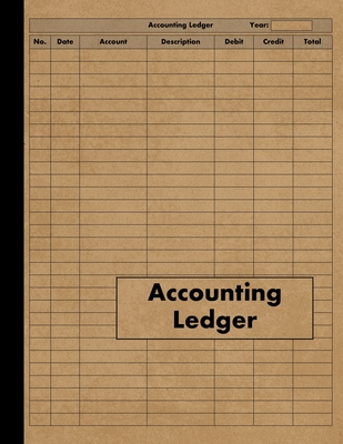Accounting Ledger: Large Simple Accounting Ledger Book for Bookkeeping and Small Business - 120 Pages - Income Expense Account Notebook - Press, Red Tiger