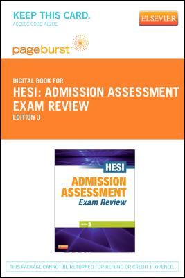 9781455740871 admission assessment exam review pageburst e book