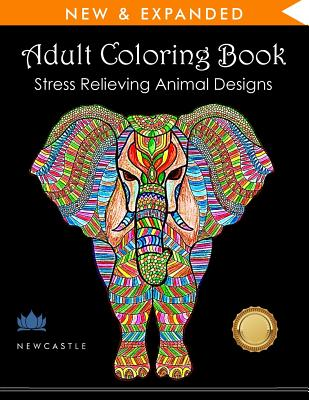 Adult Coloring Book: Stress Relieving Animal Designs - Adult Coloring Books