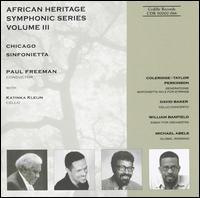 African Heritage Symphonic Series, Vol. 3 - Katinka Kleijn (cello); Chicago Sinfonietta; Paul Freeman (conductor)