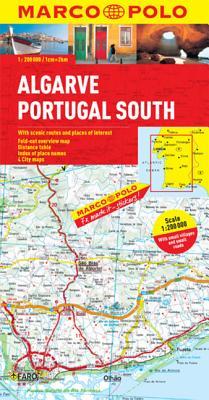 Algarve, Portugal South Marco Polo Map -
