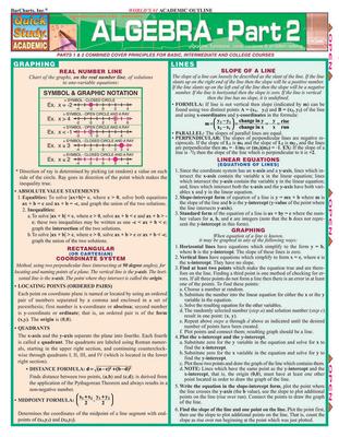 Algebra Part 2 - BarCharts, Inc.