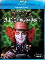 Alice in Wonderland [Blu-ray/DVD] [2 Discs] - Tim Burton