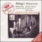 Allegri: Miserere; Palestrina: Stabat Mater