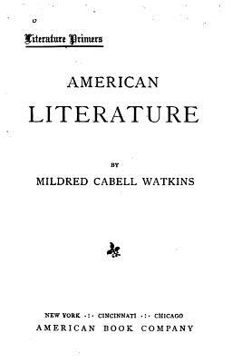 American Literature - Watkins, Mildred Cabell