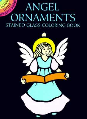 Angel Ornaments Stained Glass Coloring Book - Noble, Marty, and Coloring Books