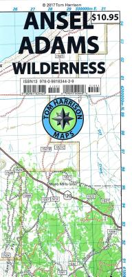 Ansel Adams Wilderness Trail Map - Harrison, Tom