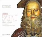 Antonino Sabino: Vespro a 5 voci, con Motetti di Francesco e Giovanni maria Sabino