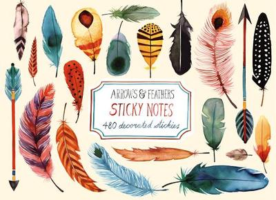 Arrows & Feathers Sticky Notes -
