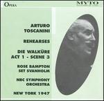 Arturo Toscanini Rehearses Die Walküre Act 1, Scene 3