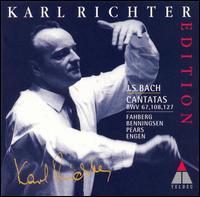 Bach: Cantatas BWV 67, 108 & 127 - Antonia Fahberg (soprano); Edgar Shann (oboe d'amore); Fritz Sonnleithner (violin); Georg Donderer (trumpet);...