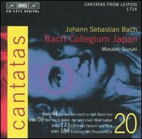 Bach: Cantatas, Vol. 20 - BWV 44, 59, 173, 184 - Gerd Türk (tenor); Mutsumi Hatano (alto); Peter Kooij (bass); Yukari Nonoshita (soprano);...