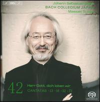 Bach: Cantatas, Vol. 42 - Gerd Türk (tenor); Masamitsu San'nomiya (oboe); Natsumi Wakamatsu (violin); Peter Kooij (bass); Rachel Nicholls (soprano);...