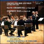 Bach: Concerto for Oboe and Violin BWV1060a; Carl Stamitz: Flute Concerto No. 1; Mozart: Symphony No. 29