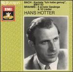"""Bach: Kantate """"Ich habe genug"""" BWV 82; Brahms: 4 ernste Gesänge & 10 Lieder"""