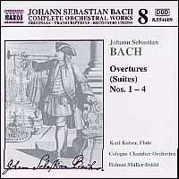 Bach: Overtures (Suites) Nos. 1-4 - Karl Kaiser (flute); Cologne Chamber Orchestra; Helmut M�ller-Br�hl (conductor)