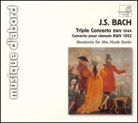 Bach: Triple Concerto, BWV 1044; Concerto pour clavecin, BWV 1052 - Christine Schornsheim (piano); Christoph Huntgeburth (flute); Georg Kallweit (violin); Raphael Alpermann (clavecin);...