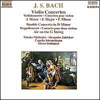 Bach: Violin Concertos; Double Concerto; Air on the G String - Alexander Jablokov (violin); Takako Nishizaki (violin); Capella Istropolitana; Oliver von Dohnanyi (conductor)