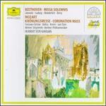 Beethoven: Missa Solemnis; Mozart: Coronation Mass - Agnes Baltsa (alto); Agnes Baltsa (contralto); Anna Tomowa-Sintow (soprano); Christa Ludwig (vocals); Fritz Wunderlich (tenor); Gundula Janowitz (soprano); José van Dam (bass); Josef Nebois (organ); Michel Schwalbé (violin); Rudolf Scholz (organ)