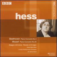 Beethoven, Mozart: Piano Concertos - Myra Hess (piano); London Philharmonic Orchestra; Adrian Boult (conductor)