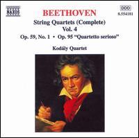 Beethoven: String Quartets (Complete), Vol. 4 - Kodály Quartet
