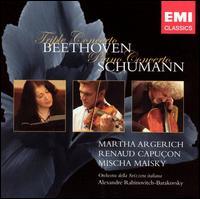 Beethoven: Triple Concerto; Schumann: Piano Concerto - Martha Argerich (piano); Mischa Maisky (cello); Renaud Capuçon (violin); Swiss-Italian Radio Orchestra;...