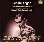 Beethoven: Violin Concerto; Mozart: Violin Concerto No. 5 - Leonid Kogan (violin); Paris Conservatory Concert Society Orchestra; Andre Vandernoot (conductor)