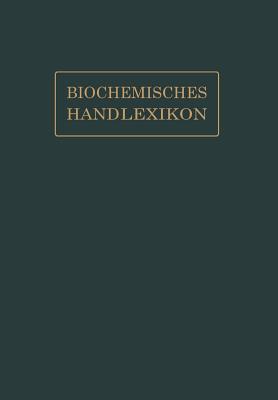 Biochemisches Handlexikon: IX. Band (2. Erganzungsband) - Fodor, Andor
