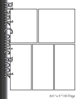 Blank Comic Book Pages-Blank Comic Strips-5 Panels, 8.5x11,100 Pages: Create Your Own Comics with Blank Multi Panels Drawing Paper - Leaves, Banana