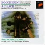 Boccherini: Cello Concerto in B flat major; J.C. Bach: Sinfonia Concertante in A major; Grand Overture (Symphony) Op.