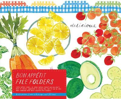 Bon Appetit File Folders - Galison