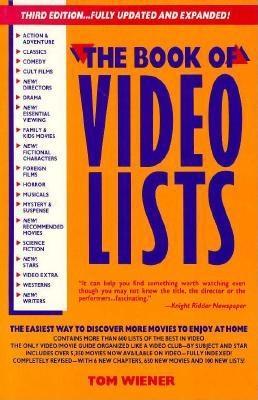 Book of Video Lists 1991 - Weiner, Tom, and Wiener, Tom