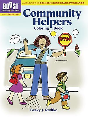 BOOST Community Helpers Coloring Book - Radtke, Becky J