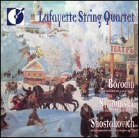 Borodin: String Quartet No. 2; Igor Stravinsky: Three Pieces for String Quartet - Ann Elliott-Goldschmid (violin); Joanna Hood (viola); Lafayette String Quartet; Pamela Highbaugh (cello); Sharon Stanis (violin)