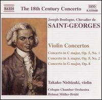 Boulogne: Violin Concertos - Takako Nishizaki (violin); Cologne Chamber Orchestra; Helmut Müller-Brühl (conductor)