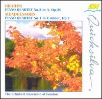 Brahms: Piano Quartet No. 2; Mendelssohn: Piano Quartet No. 1 - Douglas Paterson (viola); Jane Salmon (cello); Schubert Ensemble of London; Simon Blendis (violin); William Howard (piano)