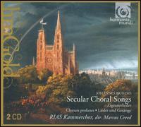 Brahms: Secular Choral Songs - Manfred Klier (horn); Marie-Pierre Langlamet (harp); Berlin RIAS Chamber Choir (choir, chorus)