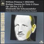 Brahms: Sonatas for Viola & Piano, Op. 120, No. 1 & 2; Hindemith: Der Schwanendreher