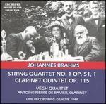 Brahms: String Quartet No. 1, Op. 51/1; Clarinet Quintet, Op. 115