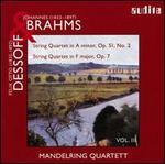 Brahms: String Quartet Op. 51 No. 2; Dessoff: String Quartet Op. 7