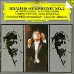 Brahms: Symphonie No. 2; Alt-Rhapsodie - Marjana Lipovsek (contralto); Ernst Senff Chor Berlin (choir, chorus); Berlin Philharmonic Orchestra; Claudio Abbado (conductor)