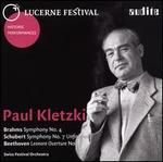 """Brahms: Symphony No. 4; Schubert: Symphony No. 7 """"Unfinished""""; Beethoven: Leonore Overture No. 3"""