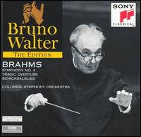 Brahms: Symphony No. 4; Tragic Overture; Schicksalslied - Columbia Symphony Orchestra; Bruno Walter (conductor)