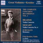 Brahms: Violin Concerto; Mozart: Violin Concerto No. 4; Schumann: Romance