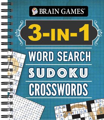 Brain Games - 3-In-1: Word Search, Sudoku, Crosswords - Publications International Ltd, and Brain Games