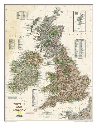 Britain and Ireland Executive [Laminated] (National Geographic Reference Map) - National Geographic Maps-Reference
