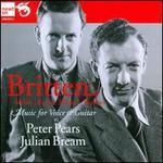 Britten, Seiber, Racine, Fricker, Walton: Music for Voice & Guitar